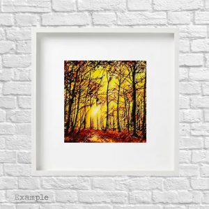 Autumn Walk<br/>Framed Glass Large