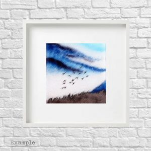 Birds Flying High<br/>Framed Glass Large