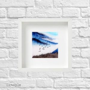 Birds Flying High<br/>Framed Glass