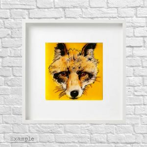 Fox<br/>Framed Glass Large