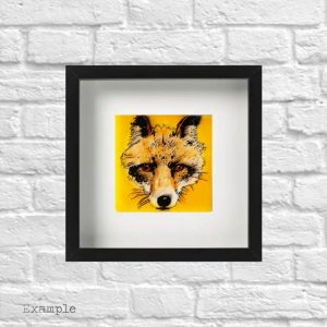 Fox<br/>Framed Glass