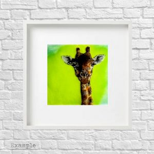 Giraffe<br/>Framed Glass Large