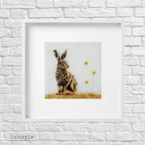 Hare<br/>Framed Glass Large
