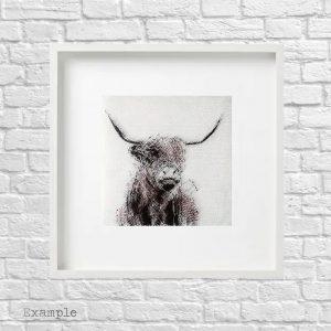Highland Cow <br/>Framed Glass Large