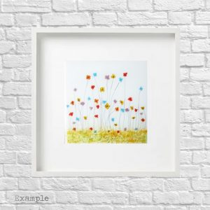 Mixed Spring Flowers<br/>Framed Glass Large