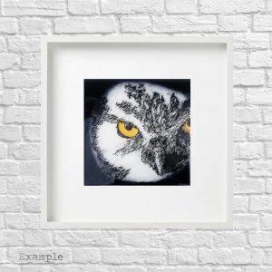 Owl<br/>Framed Glass Large