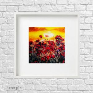 Poppy Field<br/>Framed Glass Large