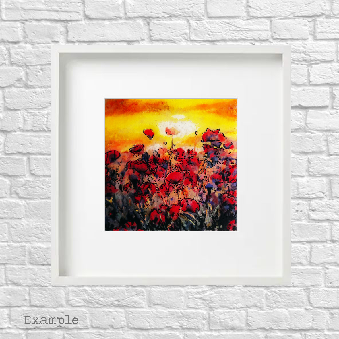 PS-poppy-field-large-white-frame