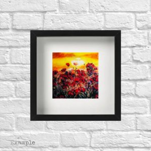 Poppy Field<br/>Framed Glass