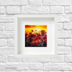 Poppy Field<br/>Framed Glass Regular