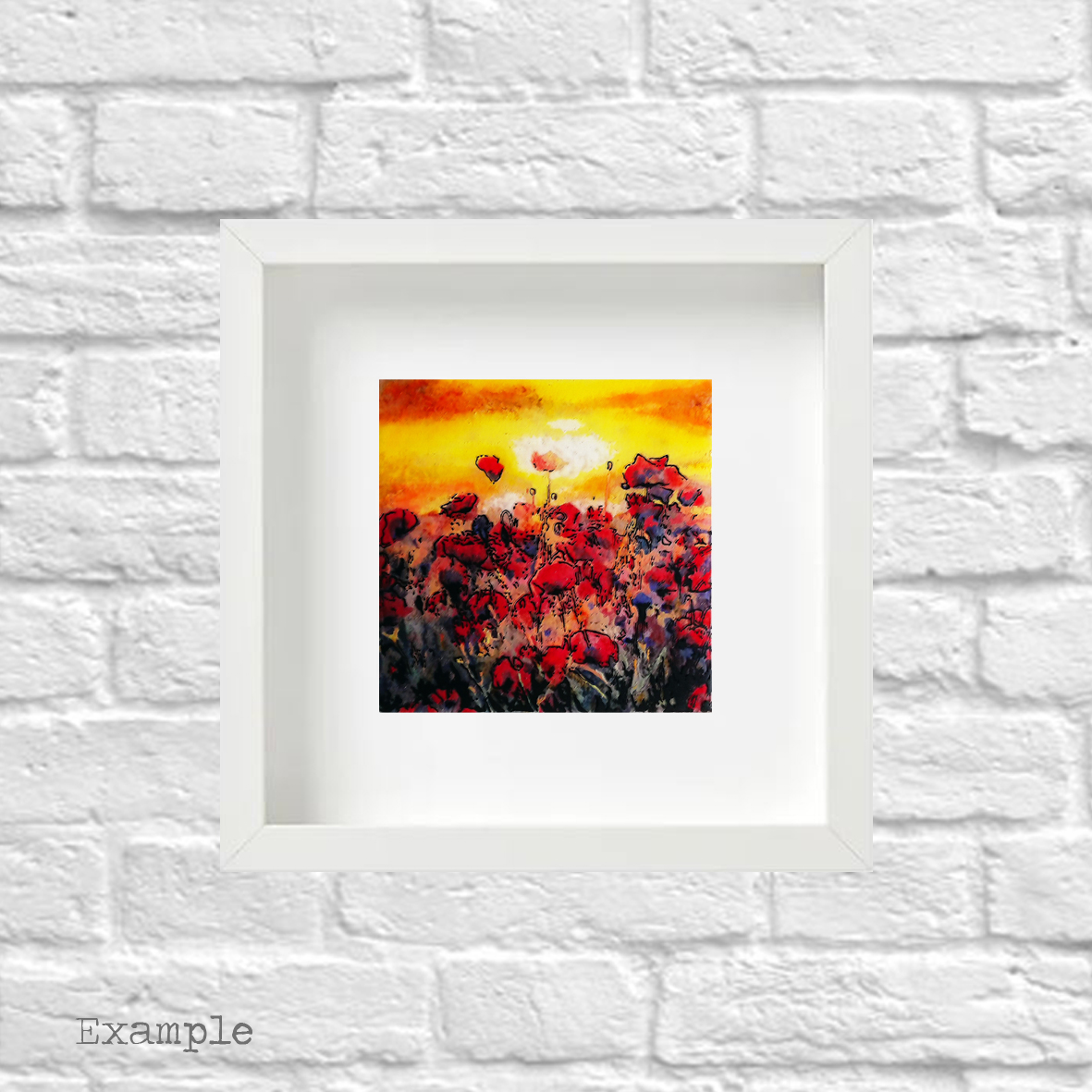 PS-poppy-field-small-white-frame