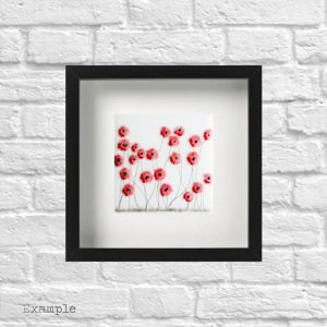 Poppy Spray<br/>Framed Glass