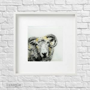 Ram<br/>Framed Glass Large