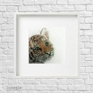 Tiger Cub<br/>Framed Glass Large