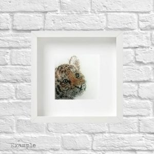 Tiger Cub<br/>Framed Glass