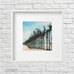 Tree Line<br/>Framed Glass Large