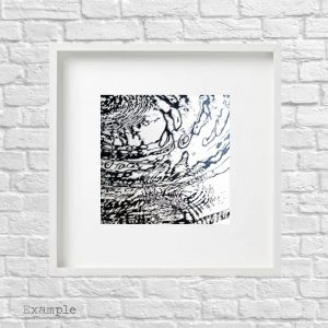 Water Ripples<br/>Framed Glass Large