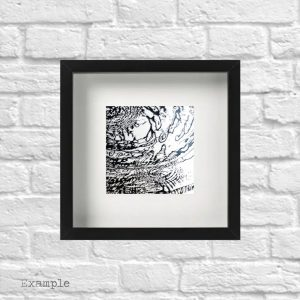 Water Ripples<br/>Framed Glass