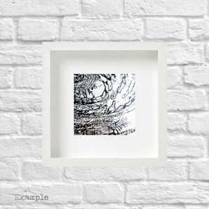Water Ripples<br/>Framed Glass Regular