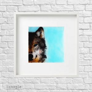 Wolf<br/>Framed Glass Large