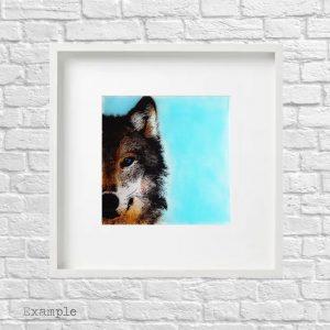 Wolf<br/>Framed Glass Large