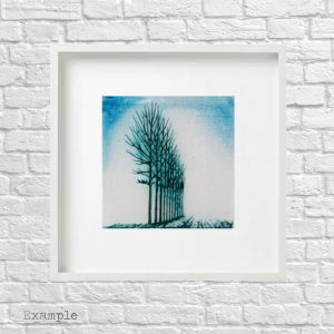 Tree Grove<br/>Framed Glass Large