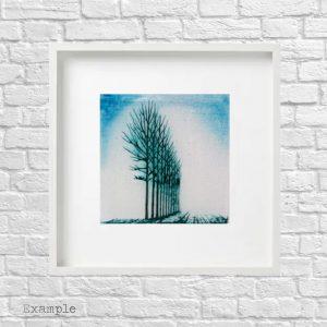 Tree Grove<br/>Framed Glass Large