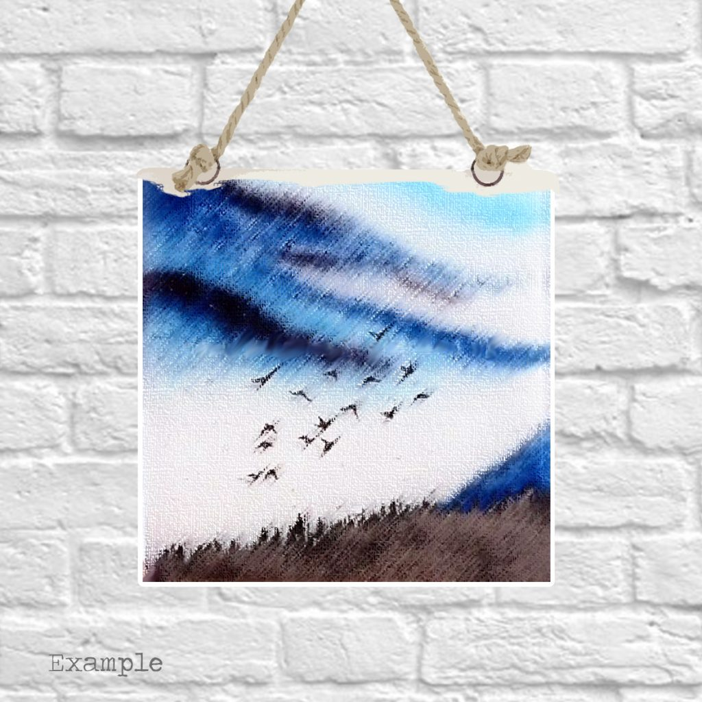 Pre-set-wall-hanging-background-birds-flying-high