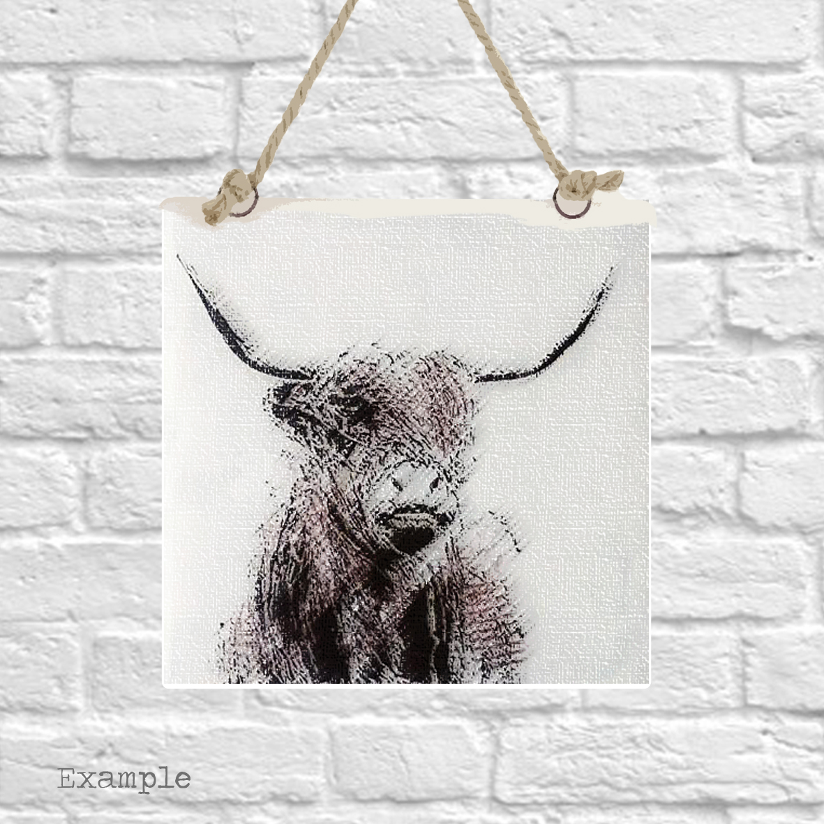 Pre-set-wall-hanging-background-highland-cow