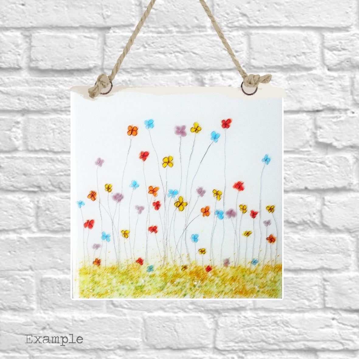 Pre-set-wall-hanging-background-mixed-spring-flowers