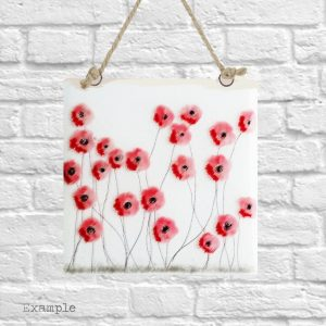 Poppy Spray<br/>Wall Hanging