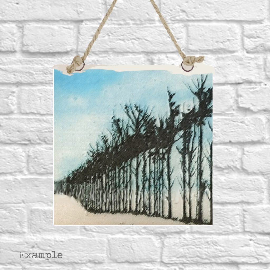 Pre-set-wall-hanging-background-tree-line