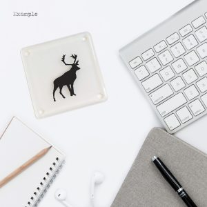 Glass Coaster of a Stag