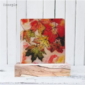 Autumn Leaves<br/>Wooden Base