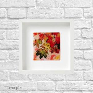 Autumn Leaves<br/>Framed Glass