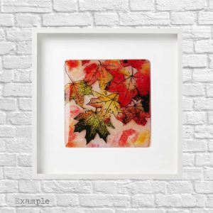 Autumn Leaves<br/>Framed Glass Large