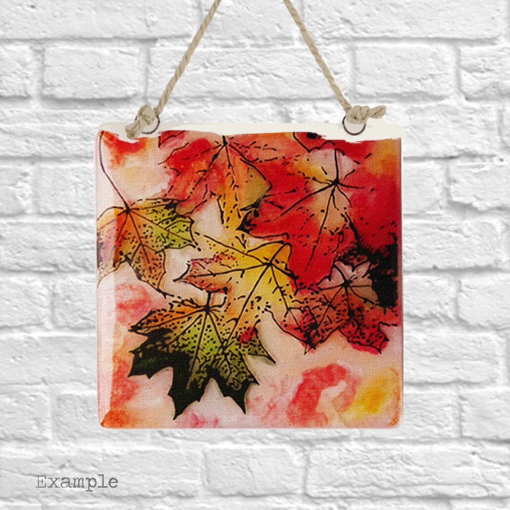 Pre-set-wall-hanging-background-autumn-leaves