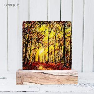 Autumn Walk<br/>Wooden Base