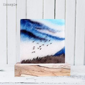 Birds Flying High<br/>Wooden Base