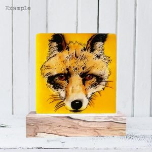 Fox<br/>Wooden Base