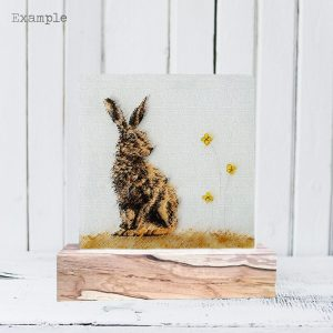 Hare<br/>Wooden Base