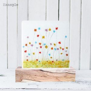 Mixed Spring Flowers<br/>Wooden Base