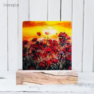 Poppy Field<br/>Wooden Base