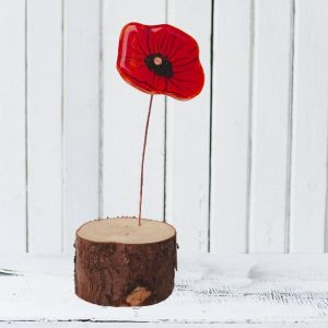 Single Poppy<br/>With Base