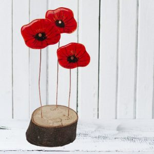 Three Poppies<br/>With Base